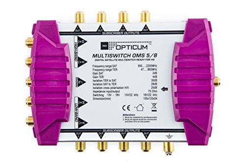 Opticum OMS 5/8p Line Multischalter mit vergoldeten Kontakten gold