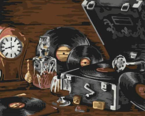 DIY Pintura al óleo Tocadiscos DIY Pintura al óleo para