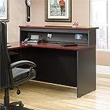 Sauder Via Reception Desk in Classic Cherry