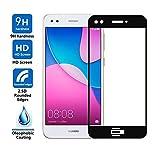 compatible para HUAWEI Y6 PRO 2017 (SLA-L02 SLA-L03 SLA-L22 / P9 LITE MINI película Protectoras de Cristal Templado Pantalla 9H Full Touch Screen antigolpes Negro