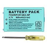 OSTENT 850mAh Recargable Litio-ion Batería + Equipo Herramienta Paquete Compatible con Nintendo Game Boy Advanced GBA SP Consola