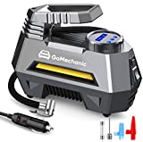 GoMechanic Gusto T2 Digital Car Tyre Inflators Digital with 1 Year Warranty Auto Cut Off 12V DC Portable Air Compressor with LED Light