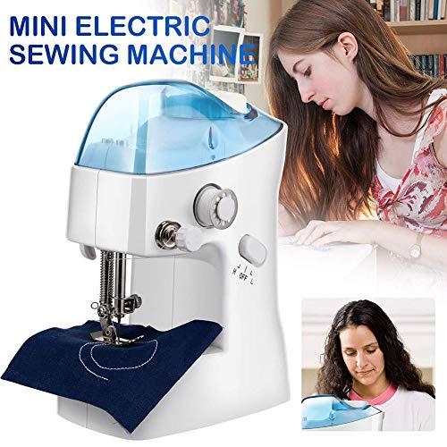 Mini-naaimachine Elektrische huishoudnaaimachine Draagbare kleermakerssteek voor stoffen kleding, veilig en gemakkelijk te gebruiken - een goed cadeau