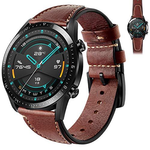 Newcool V-Sharp - Correa de repuesto universal de 22 mm de liberación rápida para reloj compatible con Samsung Galaxy Watch3 de 45 mm, Huawei GT2 Pro/GT2 de 46 mm y GT2E (V-Coffee)