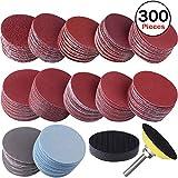 SIQUK 300 Pièces Disques de Ponçage 50mm Disques Abrasifs Grain 80 180 240 320 400...
