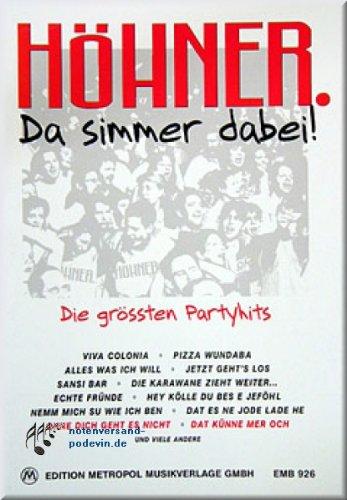 HÖHNER - Da simmer dabei - Noten Songbook [Musiknoten]