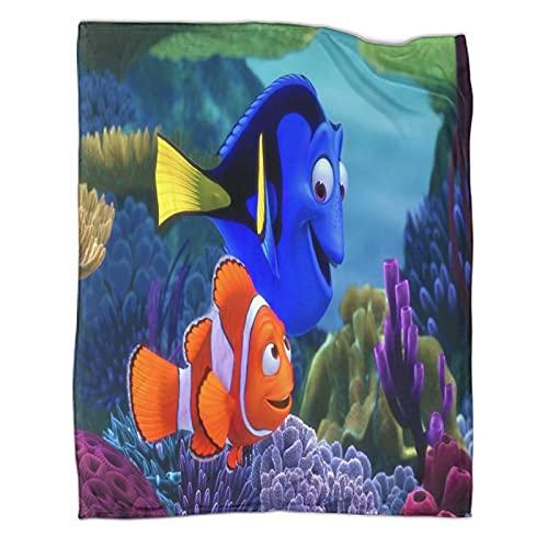 Trelemek Findet Nemo Dorie Marlin weiche Decke, 150 x 200 cm, leicht, weich, gemütlich, für Couch, Sofa, Bett, Wohnzimmer, Camping, alle Jahreszeiten