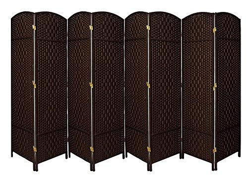 Rose-Home-Fashion-RHF-6-ft-Tall-Extra-Wide-Diamond-Weave-Fiber-Room-Divider-Double-Hinged-Screen-Panel-Room-DividerScreen-Room-Dividers-and-Folding-Privacy-Screens-Free-Standing