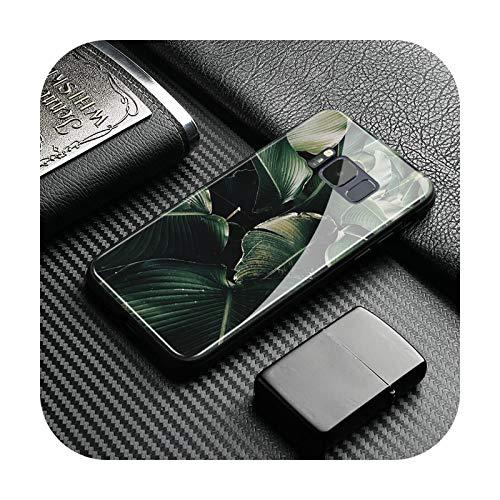 Phonecase - Carcasa de silicona para Samsung Galaxy S8 S9 S10E S10 S20 Ultra Note 8 9 10 Plus-Ae 708, diseño de hojas tropicales, color verde