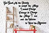 Very LG Serenity Prayer -This is Not Vinyl Decal or Peel Stick - Easily Tak-it-Up with Plasti-Tak provided Removable Paintable Art Wall Décor Gift Quotes Sayings for Family Home College Dorm