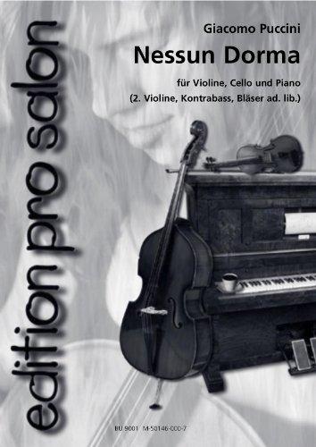 Nessun Dorma pour salon ensemble (Piano Partition et voix) (Edition Pro Salon)