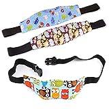 Silingsan 3 Pezzi Cinturino Supporto per Testa Bambini Neonati per Seggiolino Auto per Bambino e Neonato