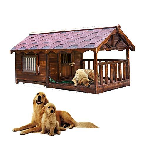 MAFANG® Caseta De Perros para Exterior Casa para Perros Mad