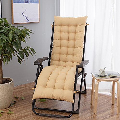 YEARLY Cuscini per sedie da Giardino, Papasan Cuscini per panche Addensare Allungare Ufficio Sedia Pieghevole Sedia a Dondolo Sedia di Vimini bambù Cuscini per Sedia-Color Crema 48x160cm(19x63inch)