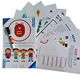 40 PREMIUM LAMINATED MATS FOR KIDS This pack comes with a set of 40 premium quality laminated worksheets and partner to encourage logical thinking and ability to recognise different patterns around us. Numbers Stimulate mind and teach to solve challe...