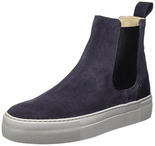 Marc O'Polo Damen Flat Heel 70814195001309 Chelsea Boots, Grau (Dark Grey), 40 EU
