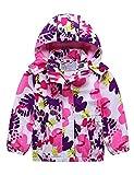 G-Kids Mädchen Wasserdicht Jacke Übergangsjacke Regenjacke mit Fleecefütterung Warm Winddicht Atmungsaktiv Wanderjacke Outdoorjacke Rosa 98/104