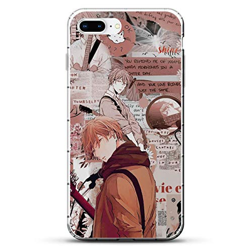 Mosku Ultra Thin Clear Soft Rubber Protect Case Cover for Apple iPhone 7 Plus/8 Plus, Given-Guitar Mafuyu-Ritsuka 9