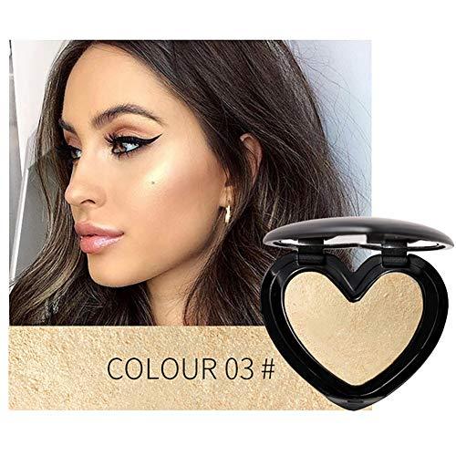 1PC Shimmer Highlighter iluminador en polvo impermeable Brighten Powder 3D Face Contour Make-up Designer Iluminador (3 Light Light)