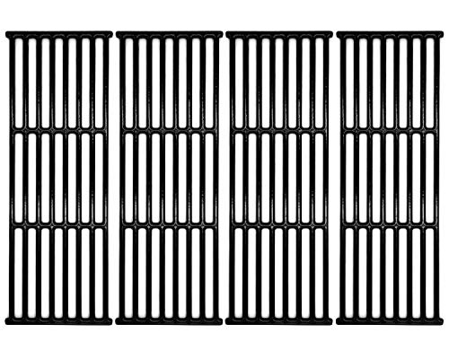 """Hongso 17 3/8"""" Porcelain Polished Cast Iron Cooking Grates Replacement for Broil-Mate, Broil King 9625-67, 9625-84, Baron 320, Baron 340, Baron 440, Huntington and Sterling, PCB005, 4Pcs"""