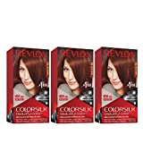 Revlon Colorsilk Beautiful Color Permanent Hair Color with 3D Gel Technology & Keratin, 100% Gray Coverage Hair Dye, 31 Dark Auburn, 4.4 oz (Pack of 3)