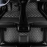 車用フロアマット マツダCX-5 2011-2015に対応 カーマットフロアマッレザーフルカバード フロントリアフロアライナ (5座席分),Black a,LHD