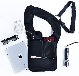 QEES Men's Hidden Shoulder Holster Anti-Theft Wallet Underarm Pocket Hidden Security Bag Portable Concealed Pack Backpack Tactical Bag SND26