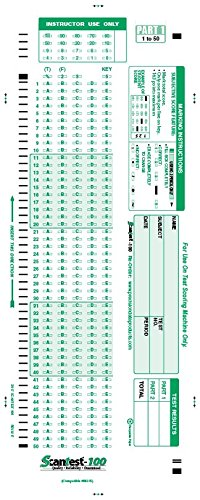 SCANTEST-100 (500/pkg) 882 E Compatible Testing Form
