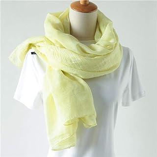 TigerTie sciarpa in giallo limone monocromatico dimensione 185 x 38 cm