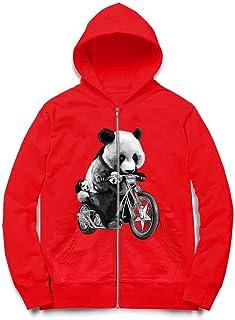 Fox Republic バイクに乗るパンダ キッズ ジッパー パーカー スウェット トレーナー