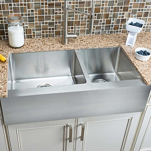 Hahn Chef Series Extra Large 60/40 Flat Front Farmhouse Sink