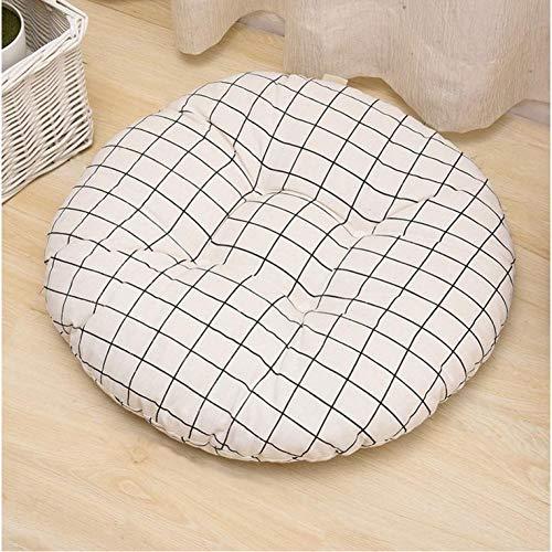 WEDFGX Cojín de Asiento de 2 tamaños de Forma Redonda, núcleo de algodón de Seda, cojín de Tatami de poliéster y algodón, cojín para decoración del hogar, cojín Suave para sofá para Coche