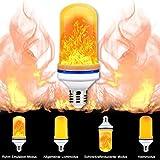 Flammen Lampe Flamme Glühbirne 4 Beleuchtungsmodi Indoor/Outdoor dekorative Atmosphäre LED Lampen für Halloween/Weihnachten, 4W E27 Base 1 Packung