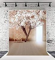 Kate 2x3m 結婚式の写真撮影の背景屋内ホワイトピアノと長いカーテンの背景花の結婚式ロマンチックな背景写真