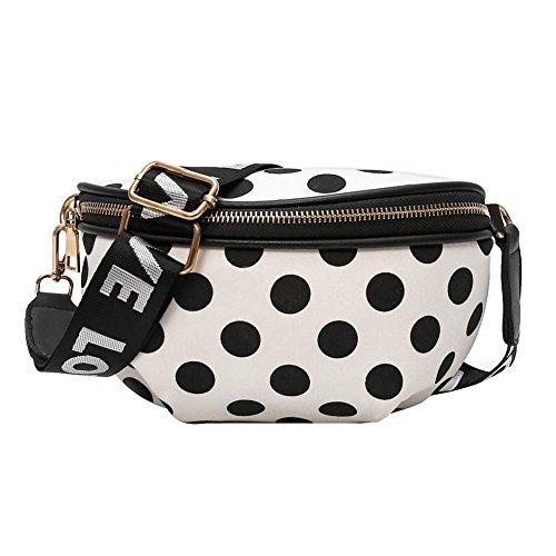 akaddy Bolso de la cintura de Fanny del bolso de la cintura de la moda de las mujeres Fanny Pack