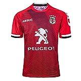 Maillot De Rugby pour Homme / 2020 Toulouse Maillot De Football Extérieur Maillot De Rugby Sweat-Shirt De Fan pour Femme/Adultes Ou Cadeau d'anniversaire (S-XXXL)-Red-XXXL