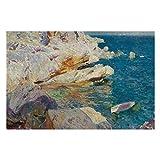 Joaquin Sorolla Rocks of Javea And The White Boat Puzzles para adultos, 1000 piezas para niños, juguetes de regalo para niños y niñas, 50,8 x 76,2 cm