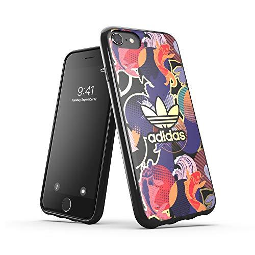 Adidas - Cover per telefono compatibile con iPhone 6, 6s, 7, 8, iPhone SE2, con cover in stile cinese, bordi rialzati, originale
