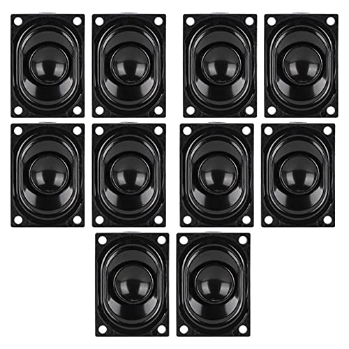 Agatige Altavoz de TV, 5 Pares 4 Ohm 3W Unidad de Altavoz de TV Impermeable Altavoz Amplificador de Sonido para Reproductor de Publicidad de TV LCD