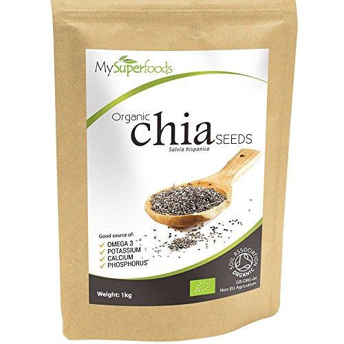 Organic Chia Seeds (1Kg), MySuperFoods, Bursting with Nutrients, High...