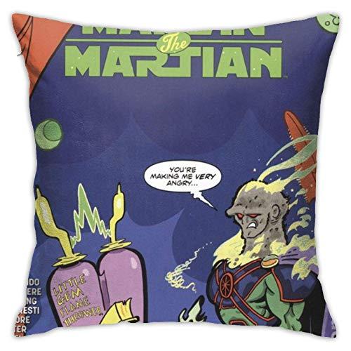 Funda de Almohada Jupsero Funda de cojín Marvin The Martian Funda de Almohada Decorativa Sofá Asiento Funda de Almohada de Coche Suave 18x18 Pulgadas