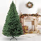 Herphia 6FT Artificial Christmas Tree, Easy to Assemble with Sturdy Metal Stand Unlit Premium Xmas Pine Tree for Christmas Decoration Indoor and Outdoor, House, Office, School (Green)