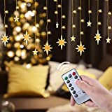 Christmas Window Curtain Light - 120 LED Fairy String Light with 8 Flashing Modes Waterproof Fairy Lights for Bedroom, Wedding, Party, Christmas Decorations