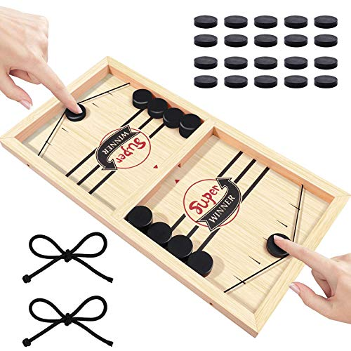 Boby Fast Sling Puck GameWooden Table Hockey Game Foosball Winner Board GamesParentChild Interactive Chess ToySling Hockey Table Game for Adults and Kids