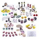Dracarys Selected 100 Pieces Fairy Garden Accessories, Fairy Garden Kit, Fairy Garden Animals, Miniature Figurines, Micro Landscape Ornaments Kit, Garden DIY Kit, Environmental Resin