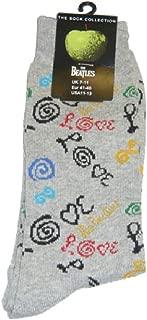 Beatles Socks: Love (Grey, Womens) - Grey -