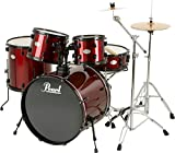 Pearl Soundcheck 5-Piece Drum Set with Zildjian Cymbals Red/Black
