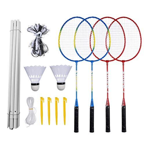 Linkay Badminton Set Badmintonschläger Badminton Badminton mit Schlägertasche Badminton-Kombinationsset Sport Spielzeug (Badminton Set)