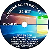 WINDOWS 7/8.1/10 DVD SUITE SET. 32 -BIT FACTORY FRESH RECOVERY FIX REINSTALL RESTORE REPAIR REPLACE RECOVERY INSTALL COMPATIBLE WITH MICROSOFT WINDOWS
