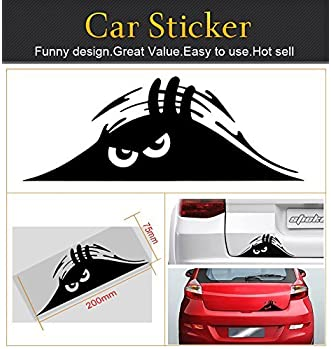 Jackey Awesome 1 X Peeking Monster Scary Eyes Car Decal/Sticker for Laptop Ipad Window Wall Car Truck Motorcycle (The...